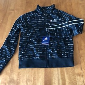 NWT Champion All Over Logo full zip jacket XS